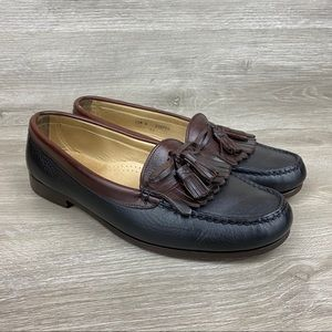 Cole Haan Black Leather USA Tassle Loafers 10.5 E